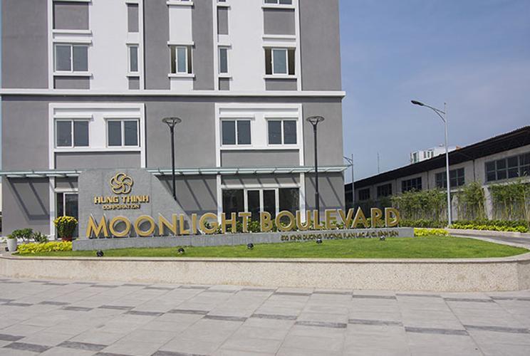 Mặt tiền Moonlight Boulevard Shop-house Moonlight Boulevard diện tích tổng 164m2, mặt bằng sáng.