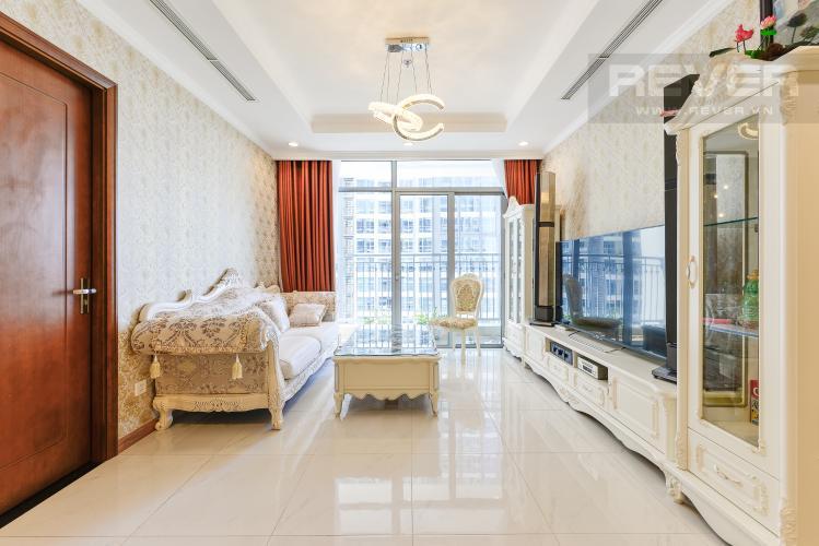 phòng khách Căn hộ Vinhomes Central Park tầng trung C1 thiết kế đẹp, sang trọng
