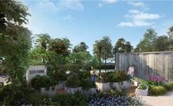 """Cụm tiện ích """"đẹp như mơ"""" của phân khu Palm Garden - dự án Palm City"""