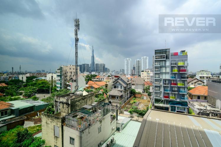 View Cho thuê căn hộ The Ascent 2PN, tầng thấp, đầy đủ nội thất, view hồ bơi và Landmark 81