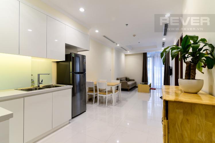 Phòng Khách Căn hộ Vinhomes Central Park 1 phòng ngủ tầng cao L5 đầy đủ nội thất