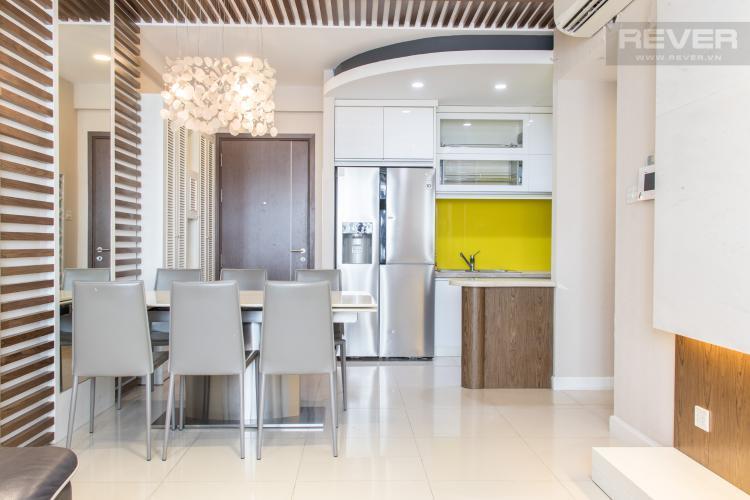 Phòng Khách & Bếp Bán căn hộ Icon 56 3PN, tầng thấp, đầy đủ nội thất, đã có sổ hồng