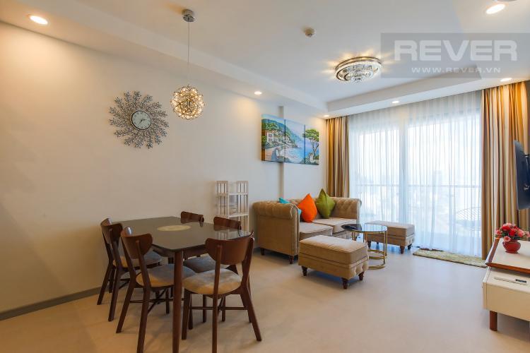 Phòng Khách Cho thuê căn hộ The Gold View tầng cao, 2PN, view đẹp, đầy đủ nội thất