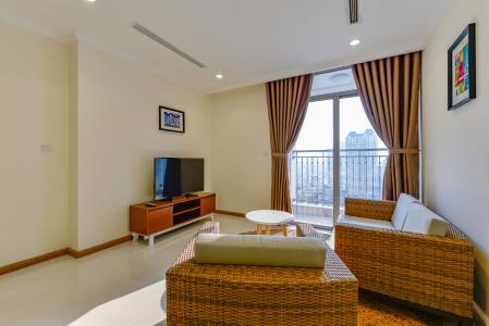 Officetel Vinhomes Central Park 1 phòng ngủ tầng trung L3 nội thất đầy đủ