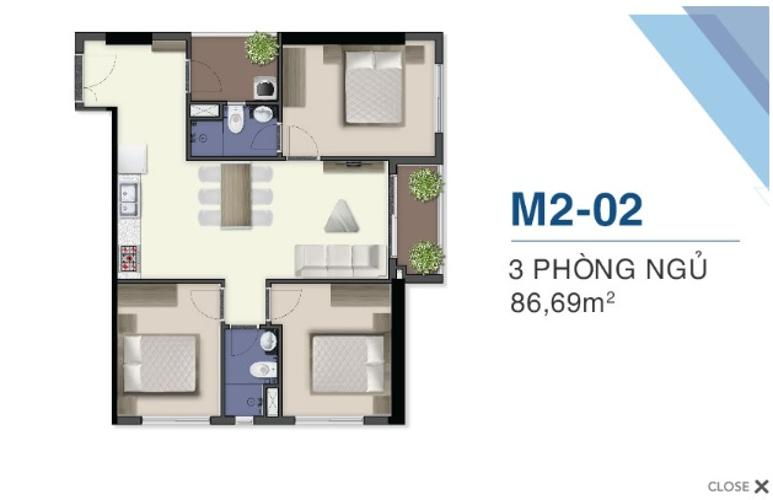 Bán căn hộ Q7 Saigon Riverside, ban công Đông Bắc view thành phố.