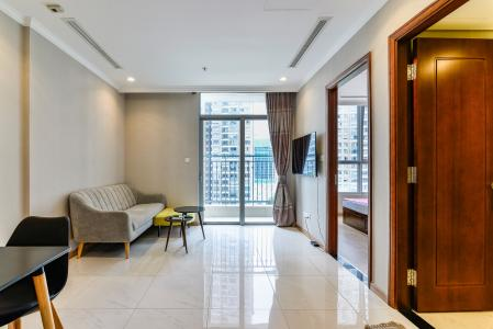 Bán và cho thuê căn hộ Vinhomes Central Park tầng trung, 1PN, đầy đủ nội thất