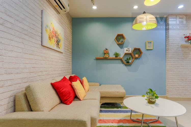 Phòng Khách Căn hộ Him Lam Riverside 2 phòng ngủ tầng trung nội thất đầy đủ