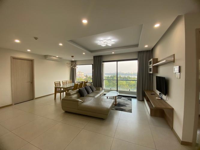 Phòng khách căn hộ New City Thủ Thiêm, Quận 2 Căn hộ tầng trung New City Thủ Thiêm nội thất đầy đủ, view sông.