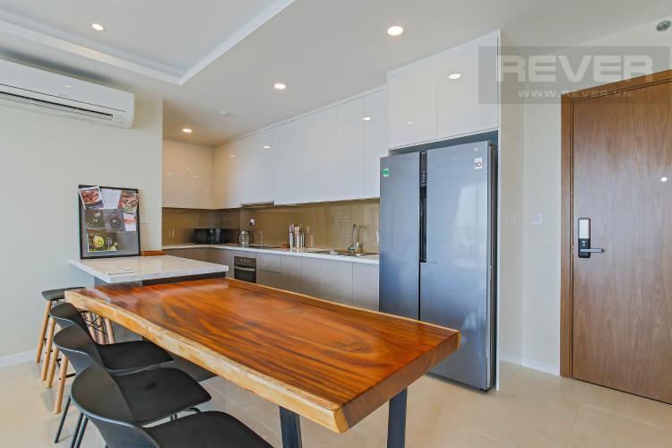 Phòng Bếp Bán hoặc cho thuê căn hộ Masteri Millennium tầng cao, 3PN 2WC, đầy đủ nội thất, view sông và Bitexco