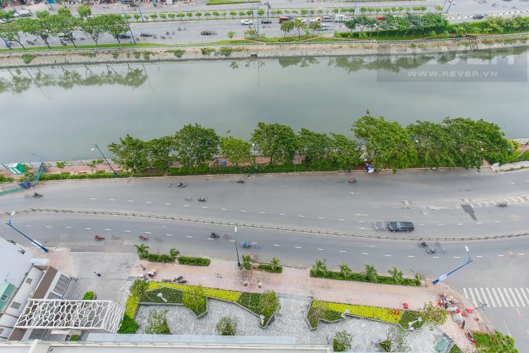 View Căn hộ Masteri Millennium tầng trung, block A, 2 phòng ngủ, view sông