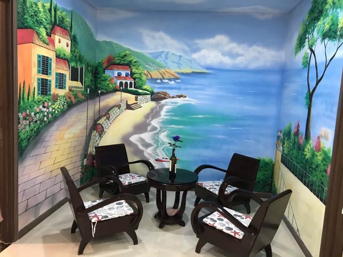 Phòng đa năng Hado Centrosa Garden, Quận 10 Căn hộ Hado Centrosa Garden hướng Đông Nam, đón view hồ bơi.