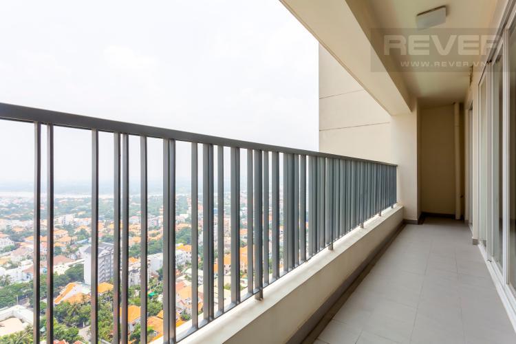 Ban công Căn hộ Thảo Điền Pearl tầng cao tháp A ban công rộng, view trực diện sông