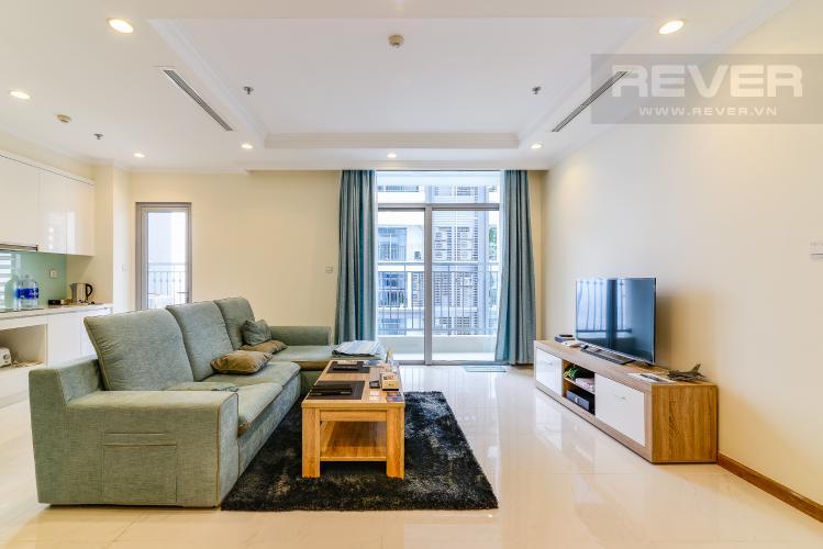 Phòng Khách Căn hộ Vinhomes Central Park 4 phòng ngủ tầng cao C2 view sông