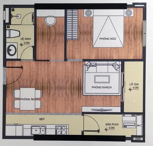 Mặt bằng nội thất căn hộ City Gate 3 Căn hộ City Gate 3 nội thất cơ bản 1 phòng ngủ view thành phố  .