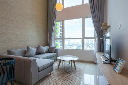 Duplex Vista Verde 2 phòng ngủ tầng cao T2 đầy đủ nội thất