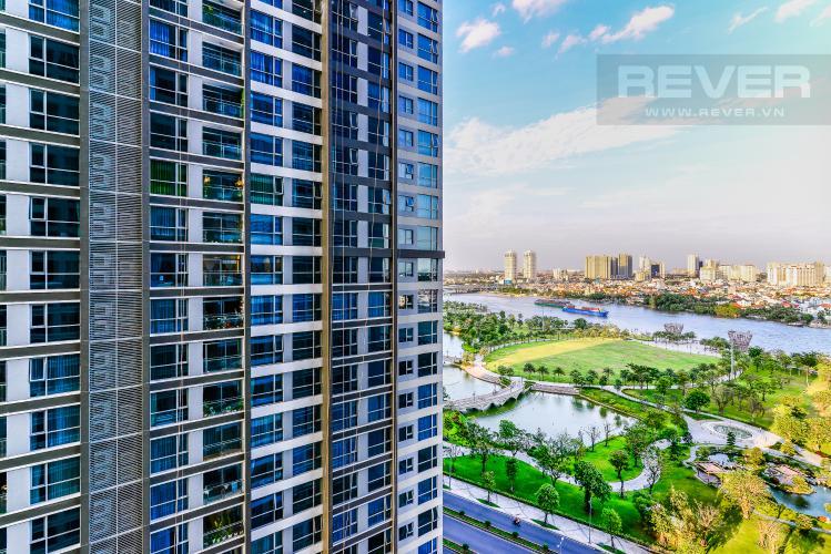 View Căn hộ Vinhomes Central Park 2 phòng ngủ tầng trung P3 nội thất đầy đủ
