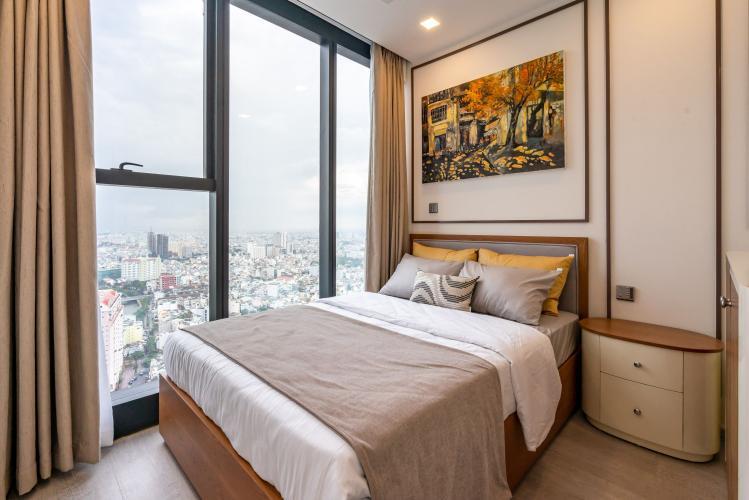 Phòng Ngủ 3 Cho thuê căn hộ Vinhomes Golden River 3PN 2WC, đầy đủ nội thất, view thành phố