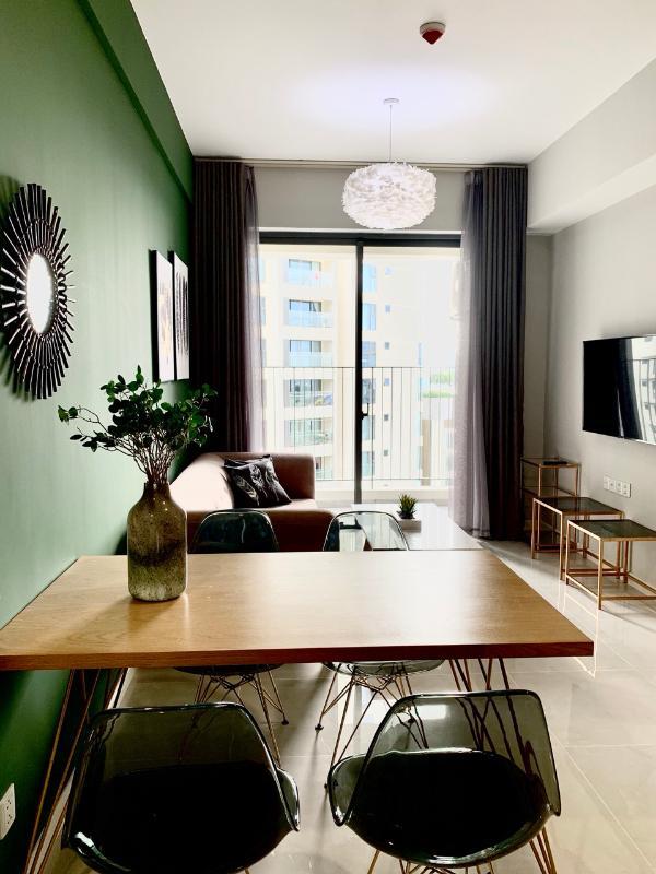 Phòng khách, phòng ăn Cho thuê căn hộ Masteri An Phú 2 phòng ngủ, tháp A, đầy đủ nội thất cao cấp