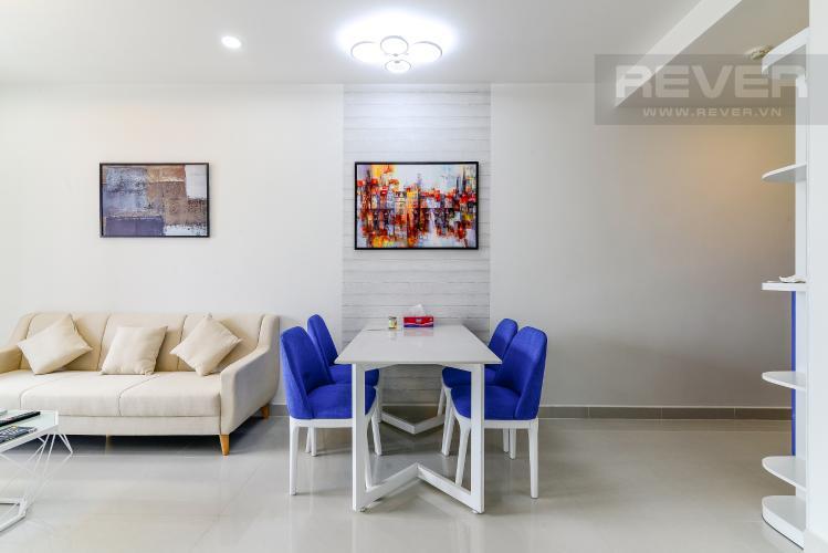 Phòng Ăn Cho thuê căn hộ Saigon Royal 2PN, tháp A, đầy đủ nội thất, view Bitexco và sông Sài Gòn