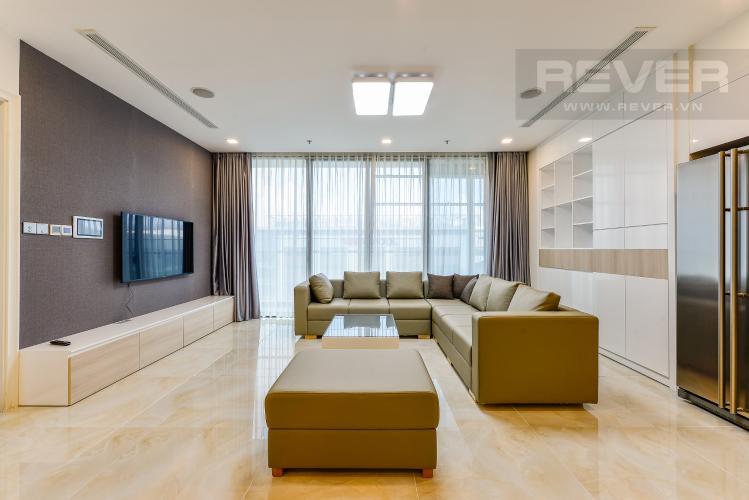 Phòng khách Cho thuê căn hộ Vinhomes Golden River tầng thấp, 3PN, đầy đủ nội thất