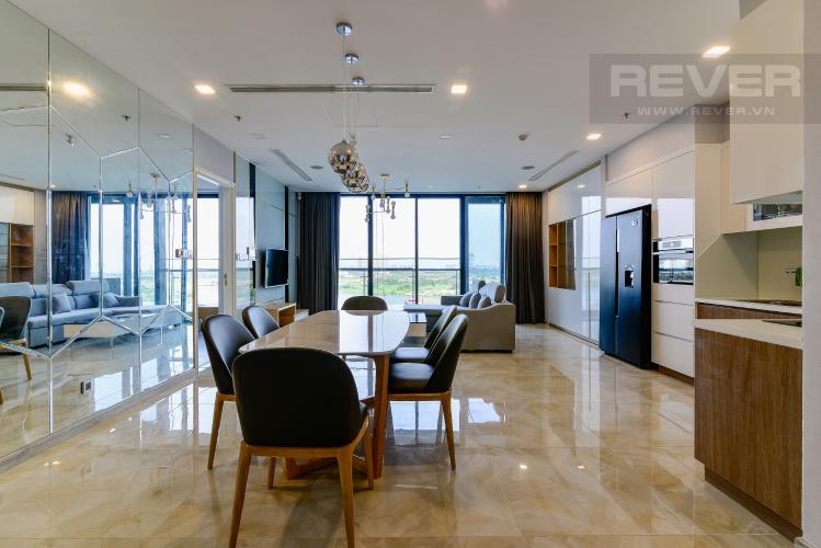 Phòng Khách Bán căn hộ Vinhomes Golden River 3PN, đầy đủ nội thất, view sông
