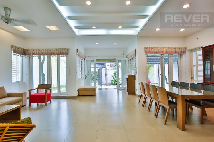 Phòng Khách Cho thuê biệt thự khu Thảo Điền 2 tầng, 4PN, đầy đủ nội thất