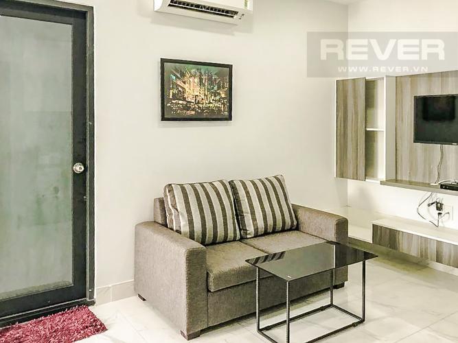 Phòng Khách Cho thuê căn hộ trên đường Nguyễn Hữu Cảnh, diện tích 25m2 1PN 1WC, đầy đủ nội thất