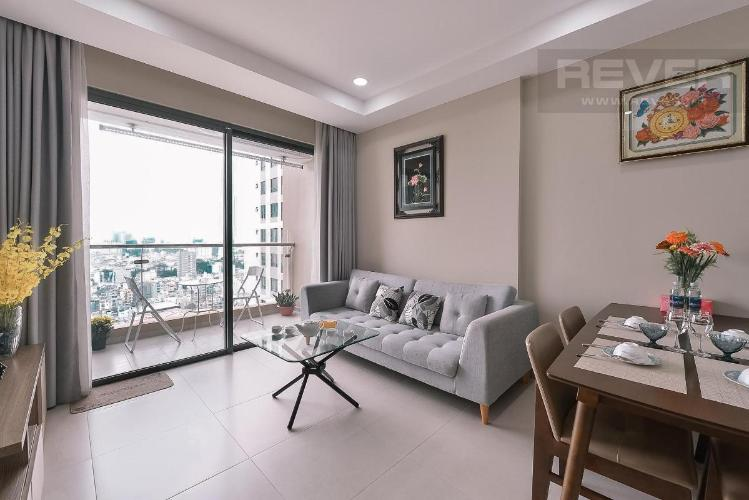 Cho thuê căn hộ The Gold View 2PN, tháp A, đầy đủ nội thất, view kênh Bến Nghé và hồ bơi nội khu
