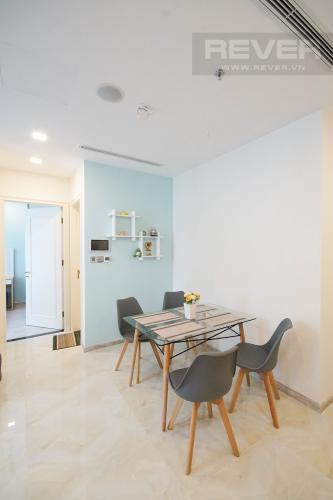 Phòng Ăn Cho thuê căn hộ Vinhomes Golden River 1PN, tầng cao, đầy đủ nội thất, view sông thoáng mát