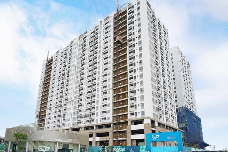 building căn hộ q7 boulevard Căn hộ Q7 Boulevard tầng 15, nội thất cơ bản, 1 phòng ngủ.