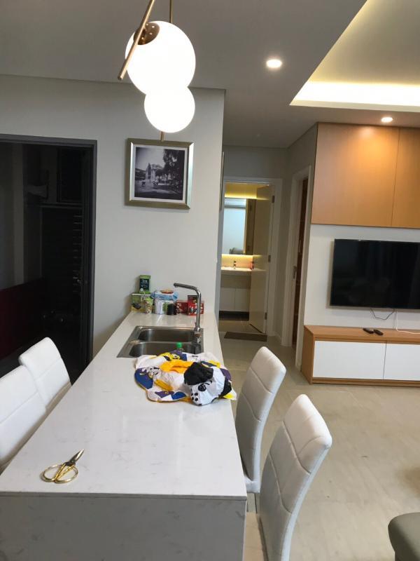 Bàn ăn Cho thuê căn hộ Diamond Island - Đảo Kim Cương 2PN, tháp Bora Bora, đầy đủ nội thất, hướng Đông