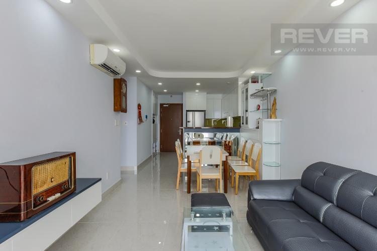 Phòng Khách Căn hộ The Gold View 2 phòng ngủ tầng trung A3 nội thất đầy đủ