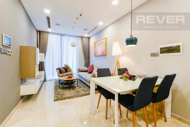 Bàn ăn Bán và cho thuê căn hộ Vinhomes Golden River tầng trung, 1PN đầy đủ nội thất, view sông