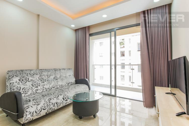Phòng Khách Căn hộ The Gold View 2 phòng ngủ tầng trung A1 view sông