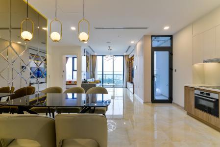 Cho thuê căn hộ Vinhomes Golden River 3PN, tháp Luxury 6, đầy đủ nội thất, view sông thoáng mát