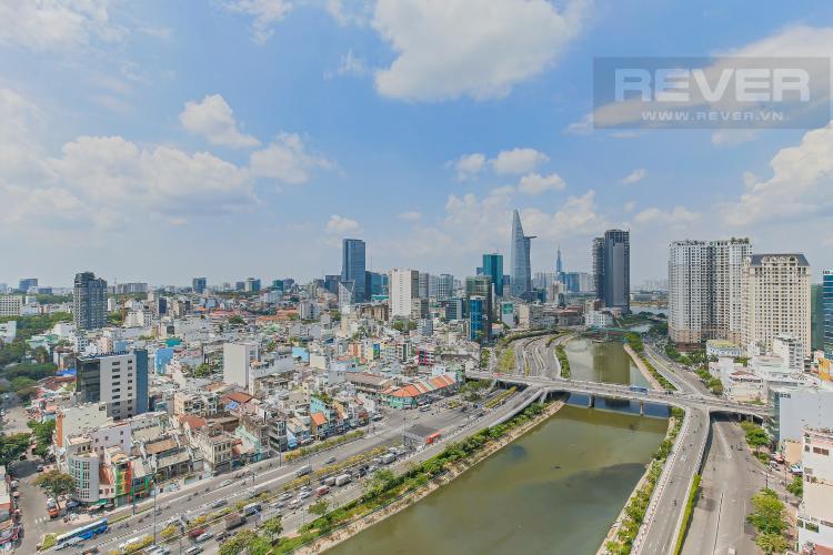 View Bán hoặc cho thuê căn hộ Masteri Millennium tầng cao, 3PN 2WC, đầy đủ nội thất, view sông và Bitexco