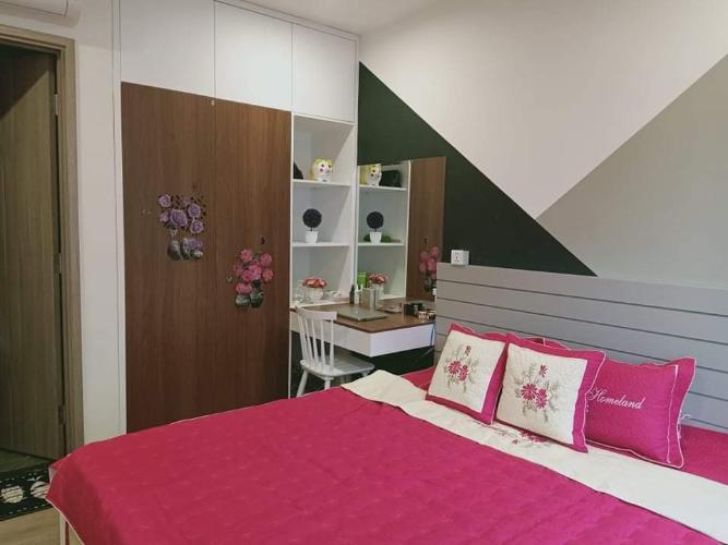 phòng ngủ căn hộ Vinhomes Grand Park Căn hộ Vinhomes Grand Park tầng cao, nhìn phía thành phố.