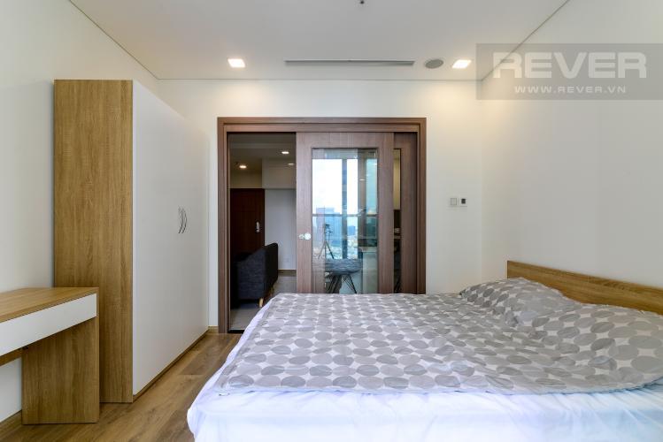 Phòng Ngủ Cho thuê căn hộ Vinhomes Central Park 1PN, tầng thấp, tháp Landmark 81, đầy đủ nội thất