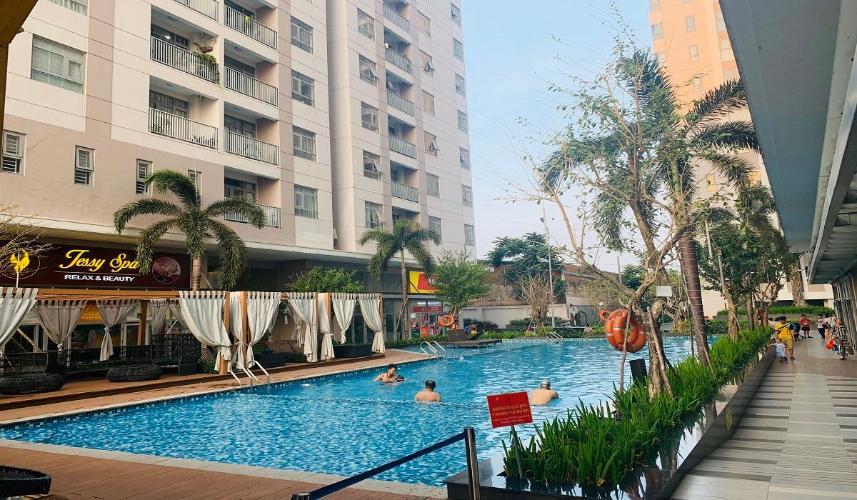 Hồ bơi Lux City, Quận 7 Căn hộ Lux City tầng 19, 3 phòng ngủ, view thành phố lung linh.