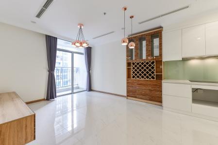 Căn hộ Vinhomes Central Park 1 phòng ngủ tầng trung L1 nội thất cơ bản