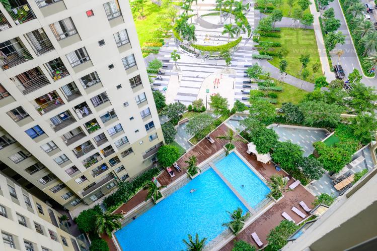 View Cho thuê căn hộ Masteri Thảo Điền 2PN, tầng trung, tháp T3, đầy đủ nội thất, view hồ bơi