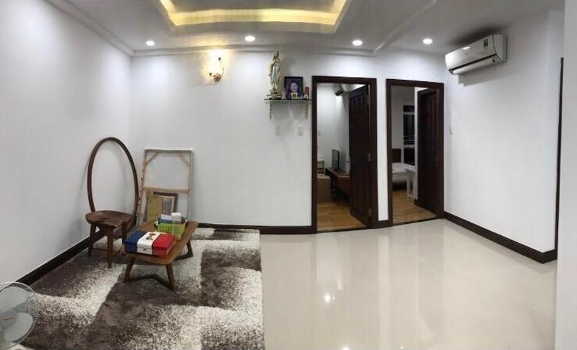 Phòng khách căn hộ Him Lam Riverside, Quận 7 Căn hộ Him Lam Riverside tầng 15 đầy đủ nội thất, view thành phố.