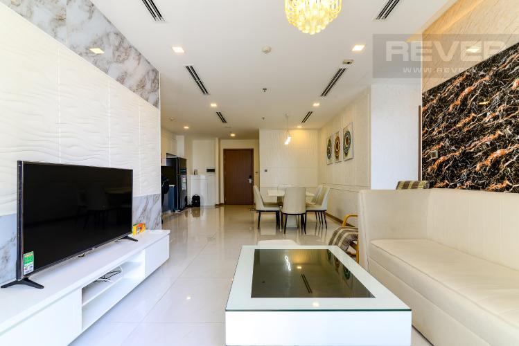 Phòng Khách Cho thuê căn hộ Vinhomes Central Park 3PN, tháp Park 1, đầy đủ nội thất, hướng Tây Bắc