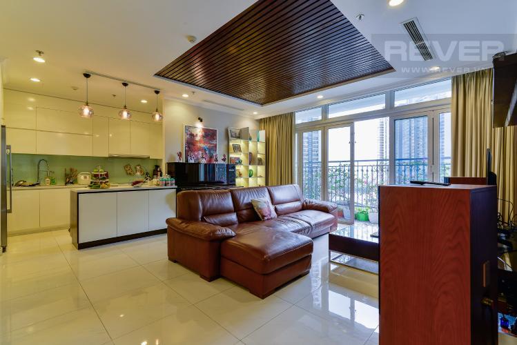 Phòng Khách Bán căn hộ Vinhomes Central Park tầng trung 3 phòng ngủ, diện tích lớn