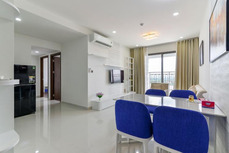Cho thuê căn hộ Saigon Royal 2PN, tháp A, đầy đủ nội thất, view Bitexco và sông Sài Gòn