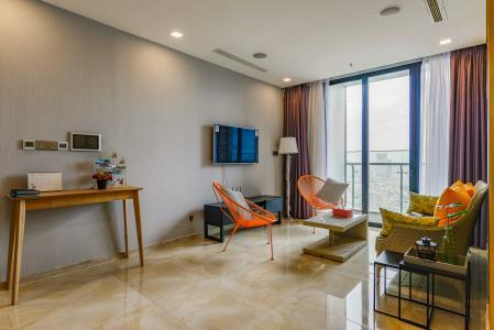 Căn hộ Vinhomes Golden River tầng trung, tháp Aquan3, diện tích 118m2, 3 phòng ngủ, full nội thất