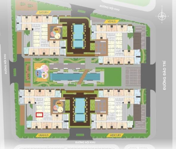 layout tổng quan  Căn hộ Q7 Saigon Riverside nội thất cơ bản nhìn ra đường phố.