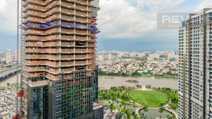 view Căn hộ Vinhomes Central Park tầng cao Landmark 3 thiết kế đẹp, view sông