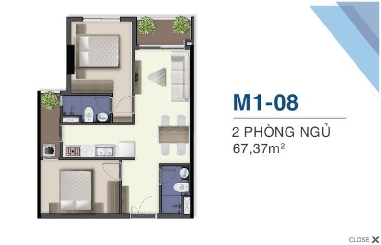 Bán căn hộ tầng cao Q7 Saigon Riverside, nội thất cơ bản.