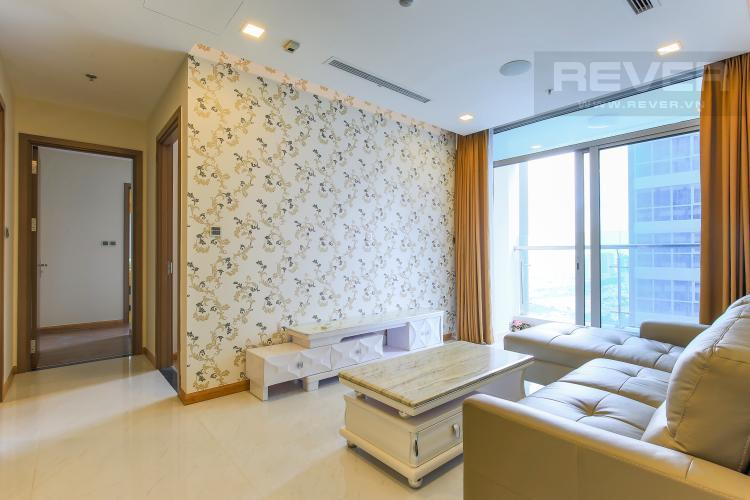 Phòng khách Căn hộ Vinhomes Central Park 2 phòng ngủ, tầng cao P6, đầy đủ nội thất